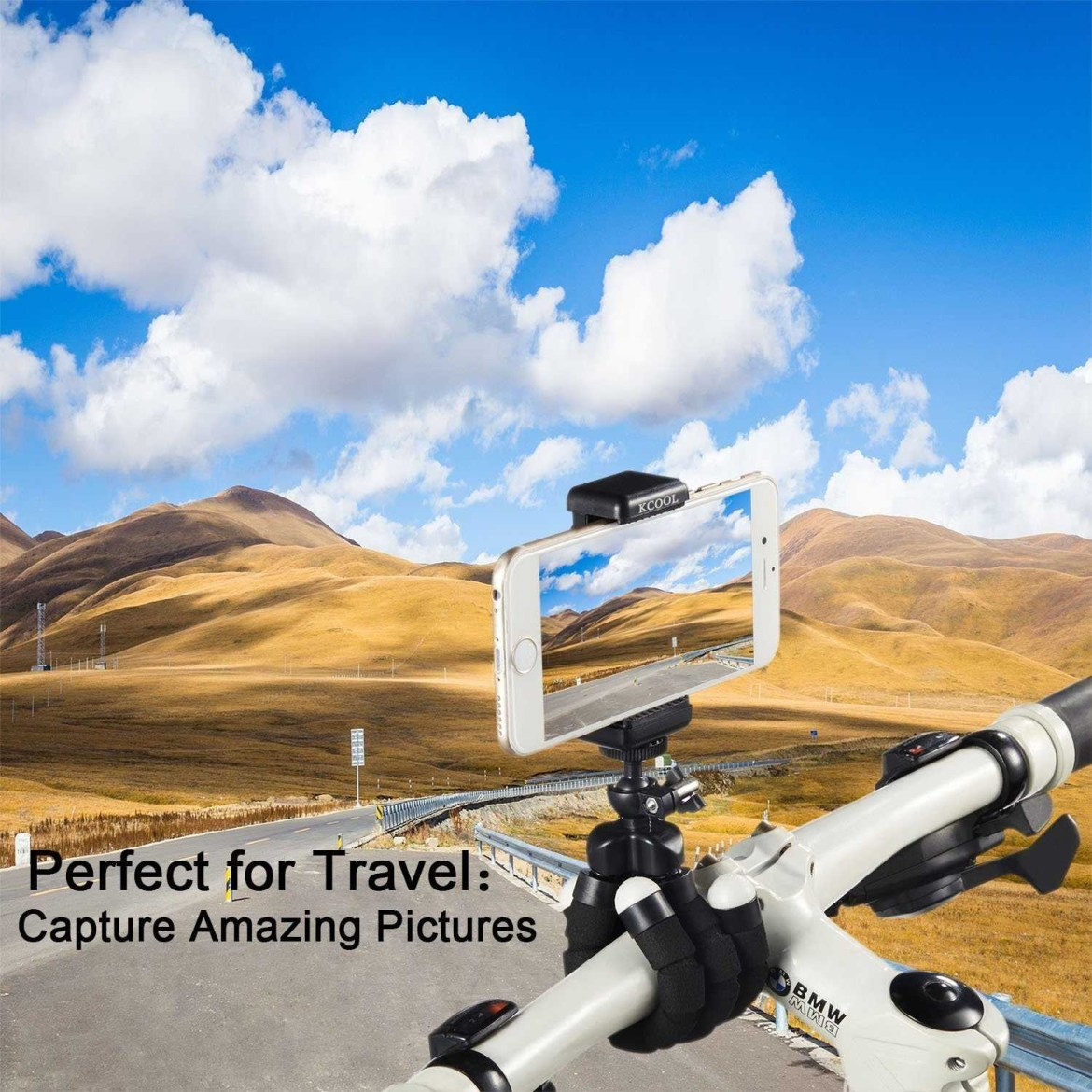 6bd0d28403bdec48dde5d7b2afbf2579 Octopus Tripod Stand Holder & Remote For Smartphones & Camera   Black
