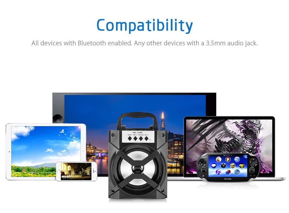 7a17c4f9da6ddcff7aafc497d3bd90c5 Redmaine MS   134BT Portable High Power Output Multimedia FM Radio Wireless Bluetooth Speaker