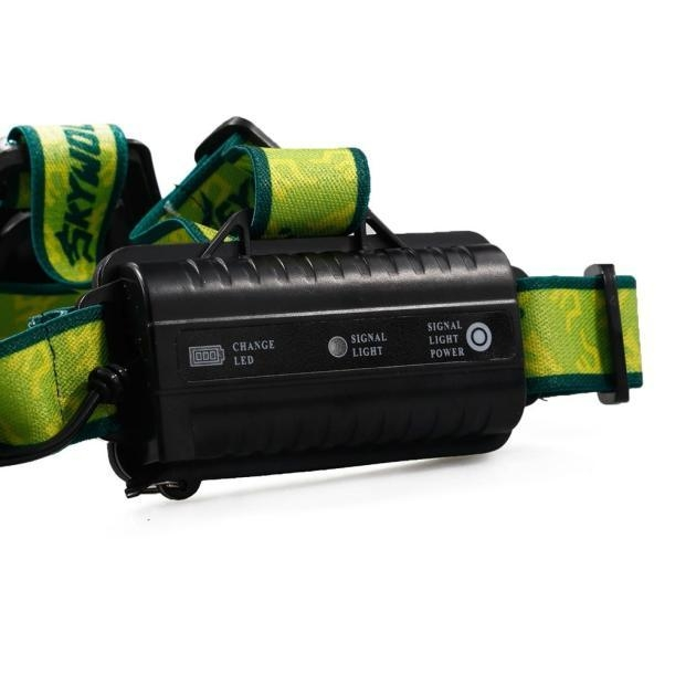 Skywolfeye Camping & Hiking Flashlight 8000LM 2X XM L T6 Headlamp Headlight Head Light LED Rechargeable USB+Battery price on Jumia