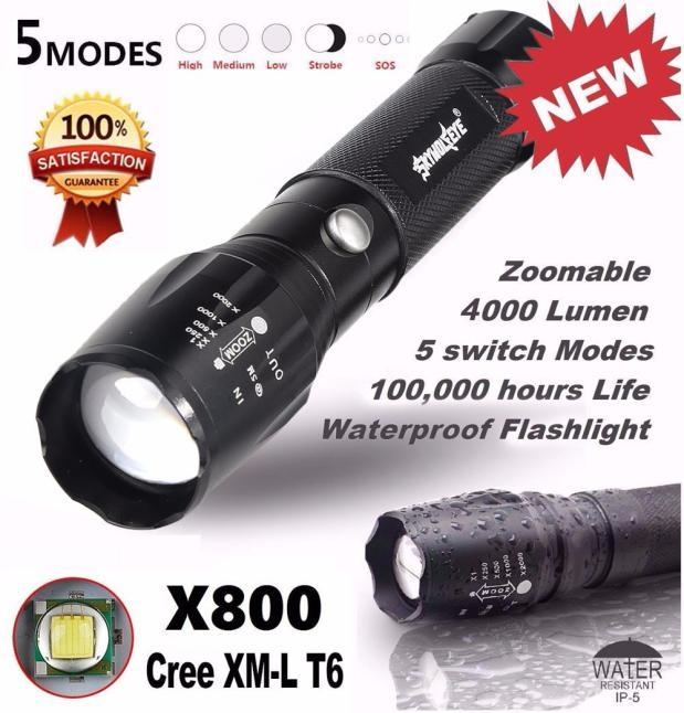Skywolfeye Camping & Hiking Flashlight 5000LM G700 Tactical LED Flashlight X800 Zoom Super Bright Military Light Lamp price on Jumia