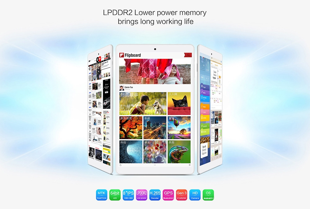 deabf5aa0d65fdef447303bd447c8982 TECLAST P80h   8 Tablet Android 5.1 1GB/8GB OTG HDMI UK   White