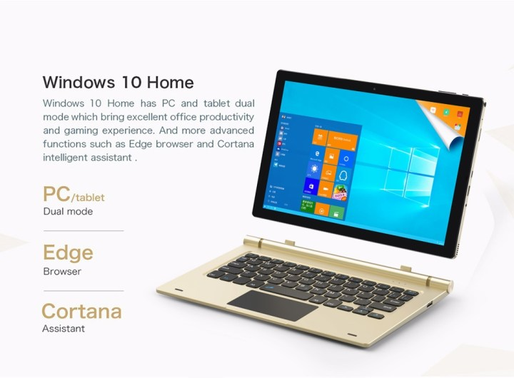 TECLAST Tbook 10 S   10.1 Tablet Windows 10+Android 5.1 4GB/64GB HDMI G sensor   Champagne Gold price in Nigeria