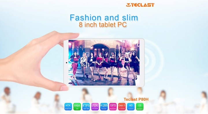 TECLAST Teclast P80h Tablet PC MTK8163 64bit Quad Core 1.3GHz 8 Inch WXGA IPS Screen Android 5.1 8GB ROM Dual WiFi Cameras OTG HDMI price in Nigeria