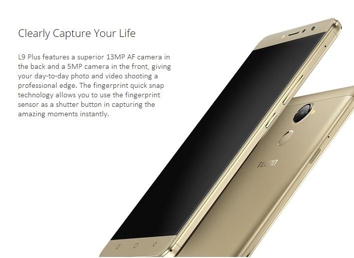 Tecno L9 Plus 6 Inch ( 2GB, 16GB ROM) Android 7.0, 13MP + 5MP Dual SIM Smartphone   Gold price in nigeria