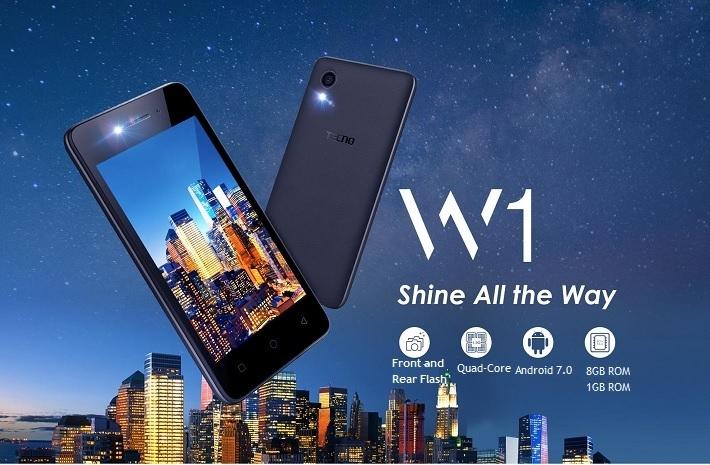 Tecno W1 Dual Sim 4.0 Inch (1GB, 8GB ROM) Android 7.0, 2MP Smartphone   BLACK price in nigeria