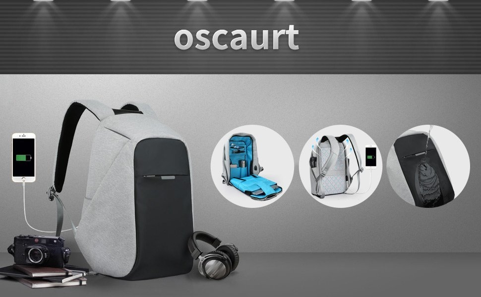 6d76825b76912d888b524fc9a3318d74 Universal Anti Theft Security Travel Backpack & Laptop Bag With USB Charging Port   Black