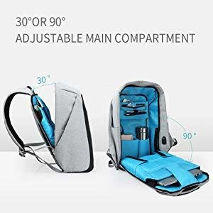 83e1e70046b3f383229533ca571dd0ab Universal Anti Theft Security Travel Backpack & Laptop Bag With USB Charging Port   Black