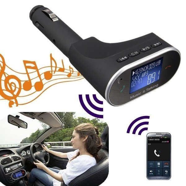Universal LCD Bluetooth Car Kit MP3 Player SD USB Charger FM Transmitter Handsfree price in Nigeria