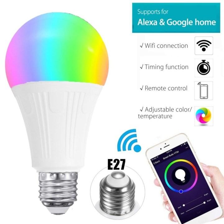 Universal E27 Wireless WiFi APP RC Smart Bulb Lamp Light RGB For Echo Alexa Google Home price in Nigeria