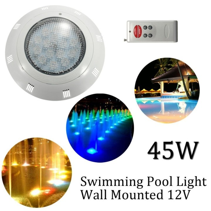 Universal 12V 45W RGB LED Swimming Pool Light Wall Mounted Underwater Remote Control Light price in Nigeria