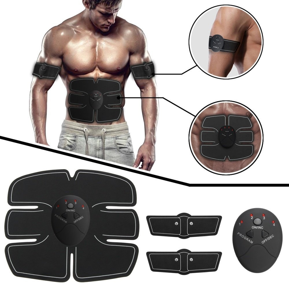 Universal ABS Abdomen Muscle Stimulator EMS Training Electrical Body Shape Home Trainer   Black price in Nigeria