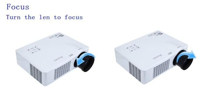 Youkatu T928   LCD Projector 3000LM 1280*768 FHD 1080P Media Player UK   White price in Nigeria