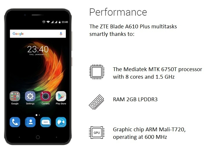 d41cf032191d2dd3531cfd860648b93e ZTE A610 Plus 5.5 inch (4GB,32GB ROM) 13MP + 8MP Android 6 Hybrid Dual SIM 4G Smartphone + Free Phone Case, Selfie Stick & N1,000 Airtime   Gold