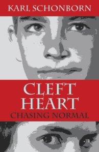 Artful rendition of cover of Schonborn's memoir Cleft Heart.