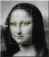 Mona Lisa's Fibonacci facial dimensions