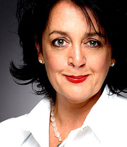 Wendy Harmer,Aussie comedienne, with repair clefts