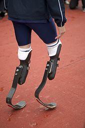 Closeup of Pistorius' steel blades.