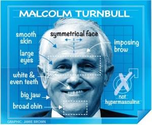 Diagram of Turnbull's face.