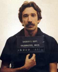Booking photo of Tim Allen. Crim justice.