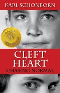 Red and black cover of Cleft Heart