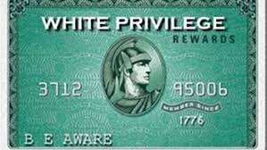 Diners' Club card altered re White privilege statistics.