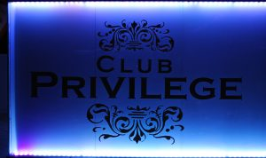 Plaque showing the Privileged constitute a club.