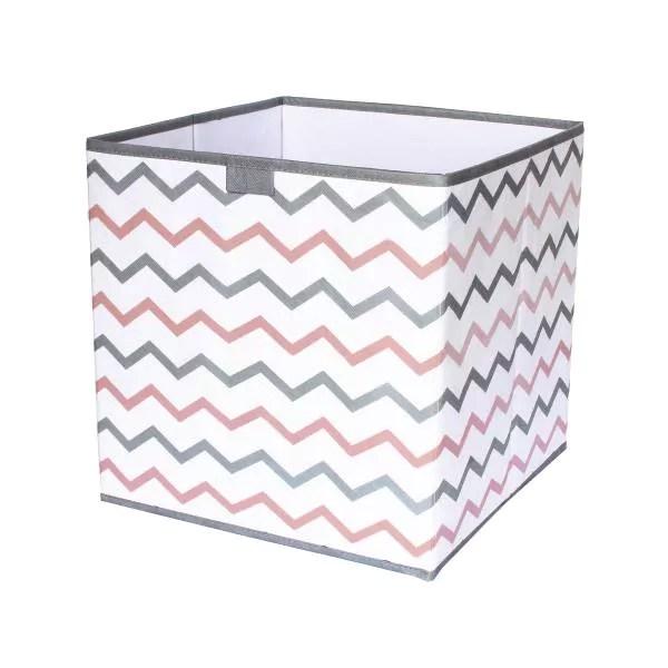cube de rangement pliable imprime zigzag