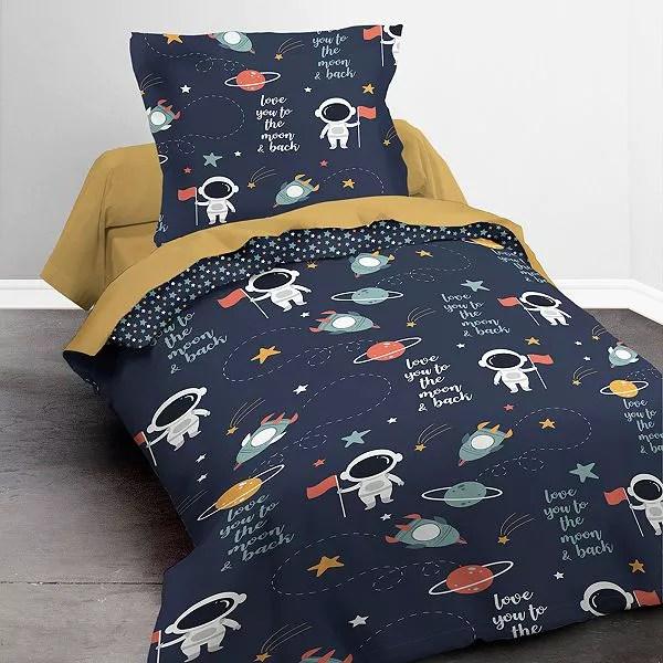 https www kiabi com parure de lit 1 personne linge de lit bleu marine p685449c685450