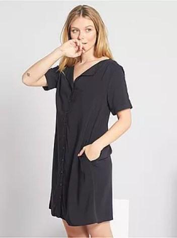 Vestito corto a forma di camicia - Kiabi