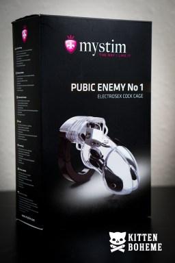 Mystim Public Enemy No 1 Electrosex Cock Cage Packaging