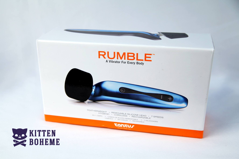 Tantus Rumble Vibrating Wand with Silicone Head