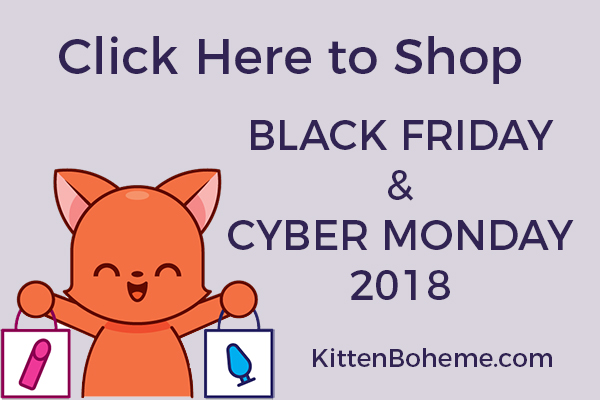Kitten Boheme's 2018 Black Friday and Cyber Monday Sex Toy Sales Page