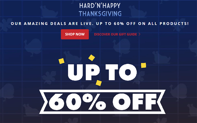 Kiiroo Hard N Happy Thanksgiving Black Friday Sale