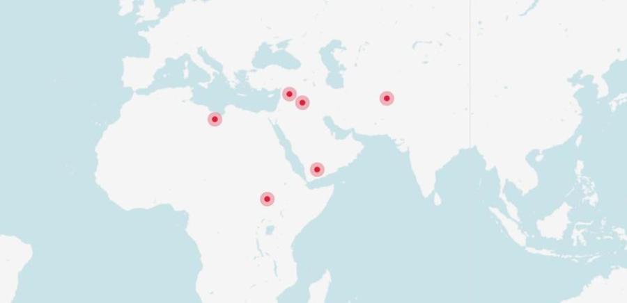 Lokacije najvećih ratova u 2016.