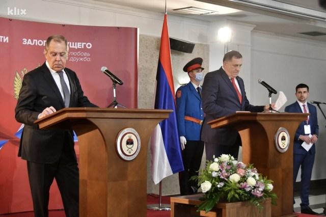Nakon što se sastao sa Dodikom, Lavrov je iznio svoje stavove (Foto: I. Š./Klix.ba)