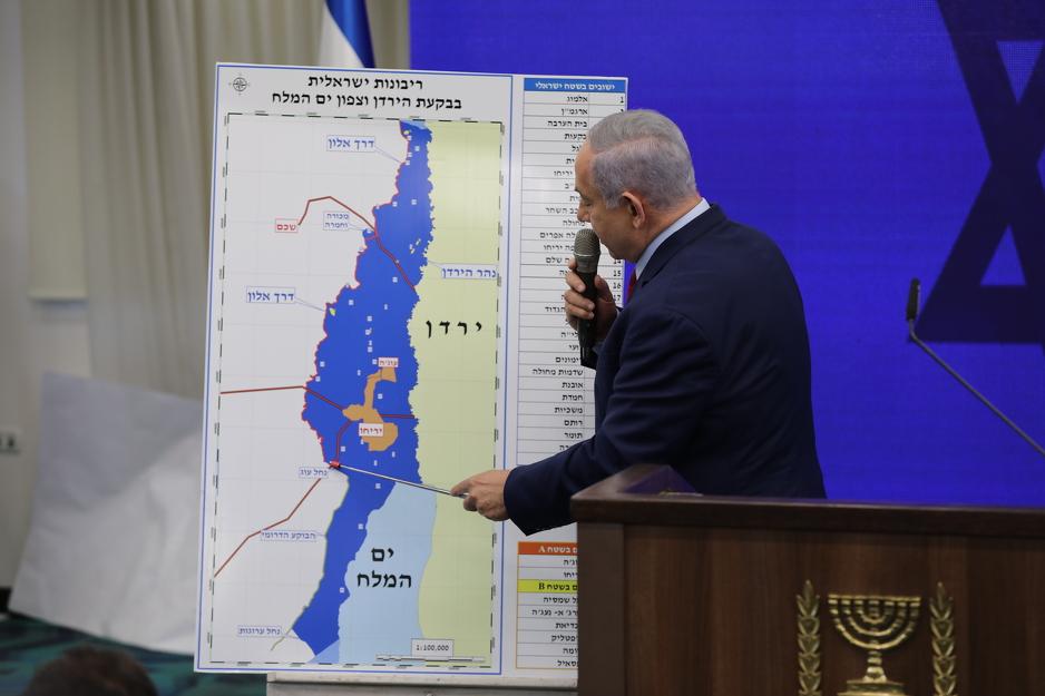 Netanyahu objašnjava plan aneksije Zapadne obale (Foto: EPA-EFE)
