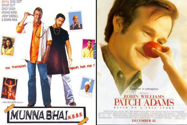 Munna Bhai M.B.B.S. (2003) and Patch Adams (1998) Movie Poster