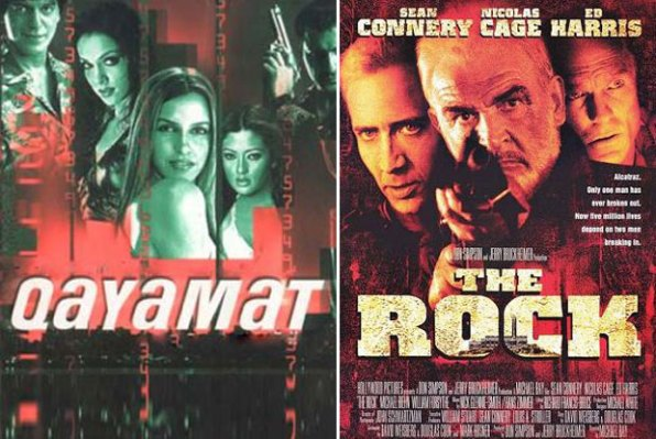 Qayamat: City Under Threat (2003) and The Rock (1996) Movie Poster