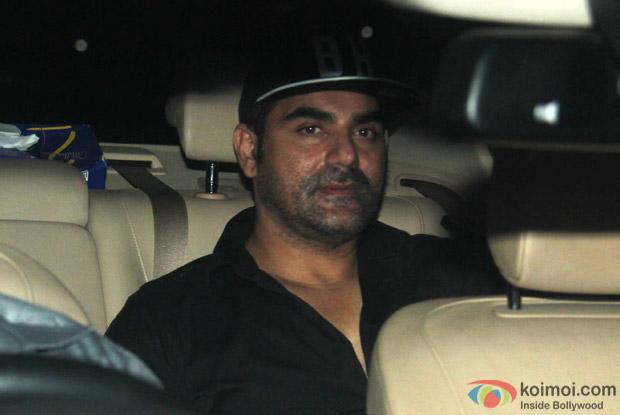 Arbaz Khan Arrived For Arpita Khan's Birthday Bash