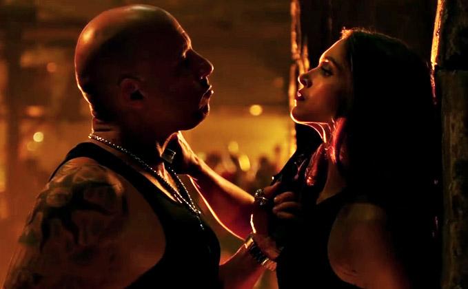 Deepika Padukone and Vin Diesel in a stills from xXx: Return of Xander Cage