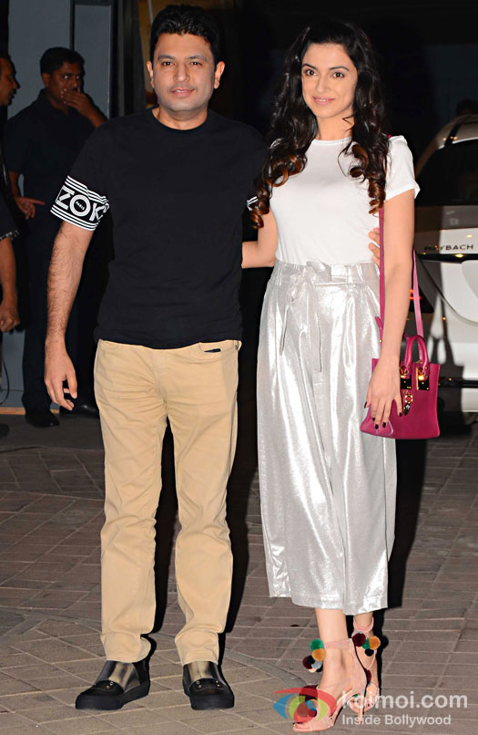 Bhushan Kumar and Divya Khosla Kumar during the screening of OK Jaanu
