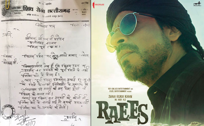 Shiv Sena sends threat letter to Raees' distributor in Chhattisgarh