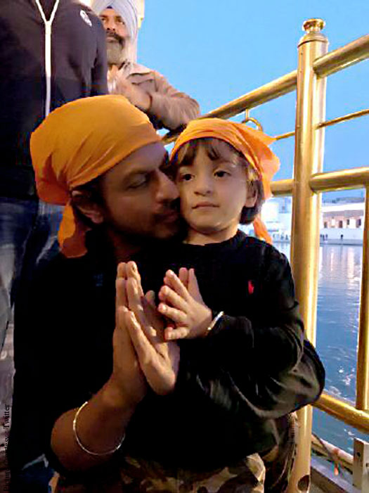 Shah Rukh Khan visits the Golden Temple with his younger son AbRam