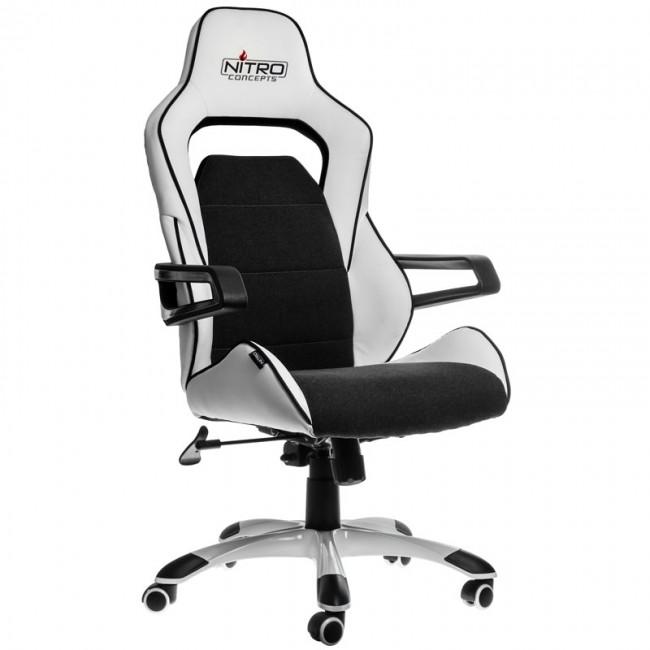 Nitro Concepts E220 Evo Fotel Gamingowy Biao Czarny