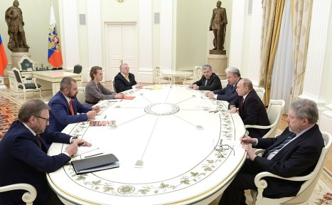 Meeting with candidates forpost ofRussian Federation President.