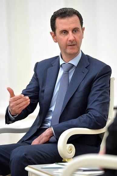 President ofSyria Bashar al-Assad.