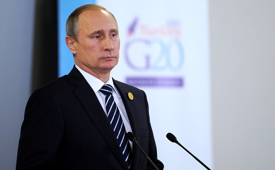 Vladimir Putin answered journalists' questions after the G20 summit.