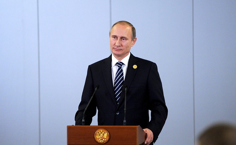 Vladimir Putin answered journalists' questions after theG20 summit.