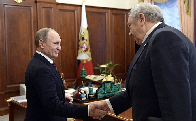 Meeting with President oftheRussian Academy ofSciences Vladimir Fortov