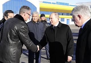 ThePresident arrived inPetropavlovsk (Kazakhstan).